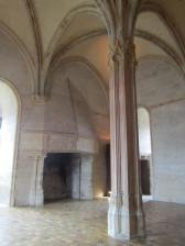 Inside of tower; the fireplace looks small but is taller than an average man by a few feet