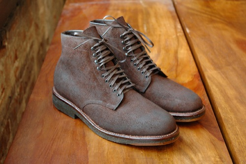 Alden for Winn Perry Navy Blucher High Boot
