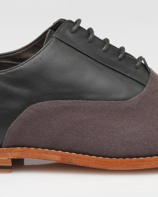 Vanishing Elephant Fairmont Canvas/Leather Oxford Shoe
