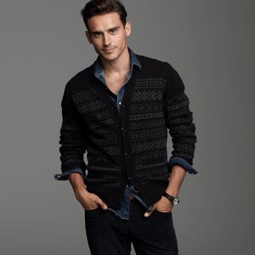 Muted | J.Crew Lambswool Fair Isle Cardigan - Por Homme ...