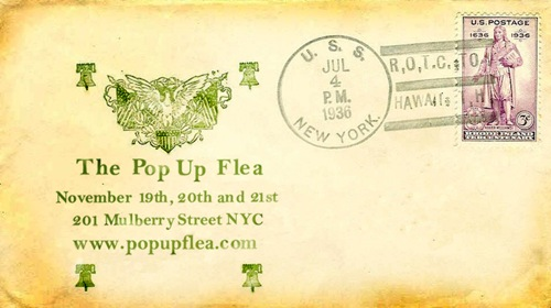 The Pop Up Flea in New York City Begins November 19th