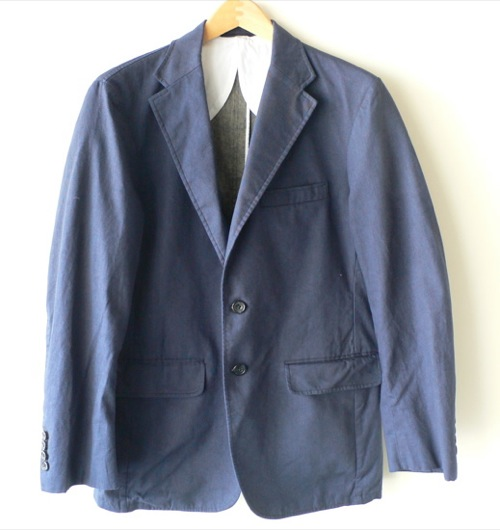 Gitman Vintage Indigo Oxford Unstructured Blazer