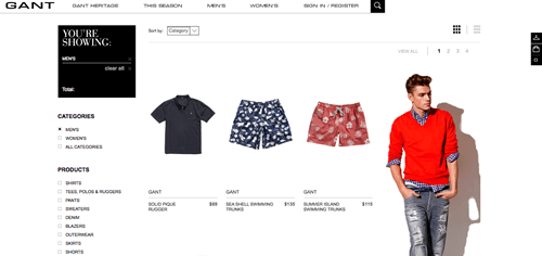 Gant Launches New Website, Online Store for U.S. Market