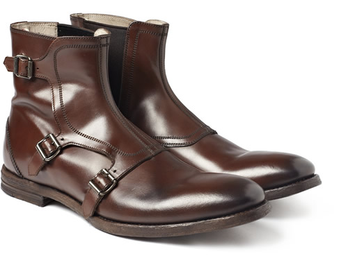 6a0898cfec5e Alexander McQueen Buckled Leather Boots for Fall 2011 - Por Homme ...
