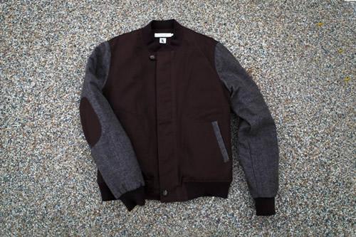 Shades of Grey by Micah Cohen x Ronnie Fieg Tweed Baseball Jacket
