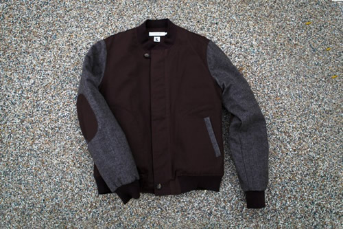 Shades of Grey by Micah Cohen x Ronnie Fieg Tweed Baseball Jacket