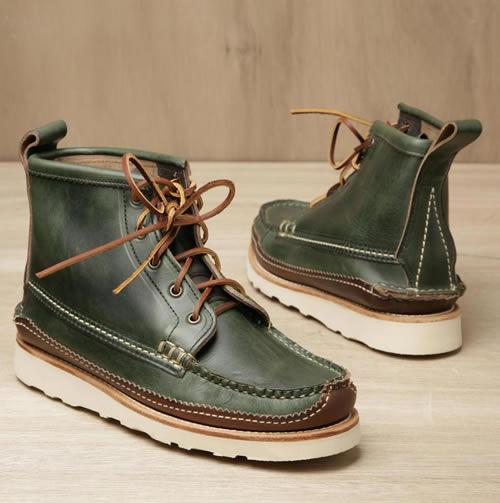Yuketen 5 Eye Maine Guide Boot in Green, Fall 2011