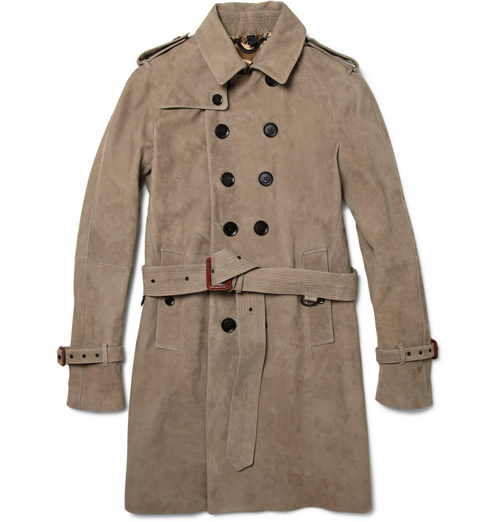 Burberry Prorsum Suede Trench Coat for Fall 2011
