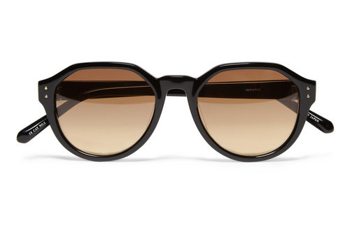 Linda Farrow Luxe Angular Frame Sunglasses