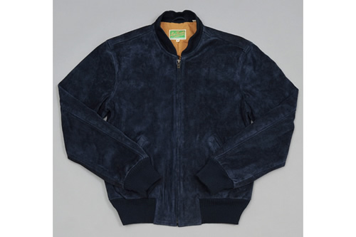 LVC 1960s Suede Bomber Jacket in Majolica Blue