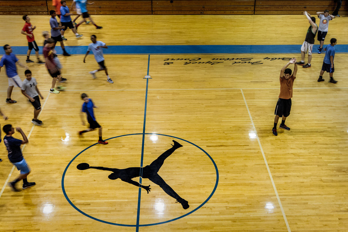 304861bae9b1 Jordan Brand Renovates MJ s High School Gym For its 30th Anniversary