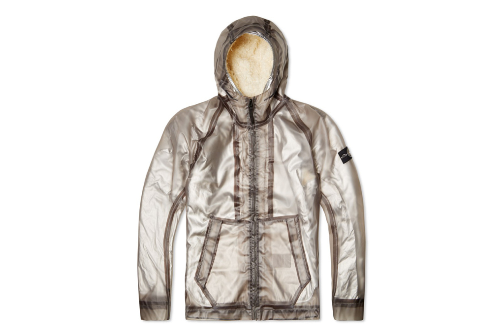 Stone Island Poly Cover Composite Jacket In Grey