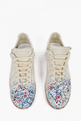 Maison Margiela Off-White Paint-Splatter Pollock Sneakers