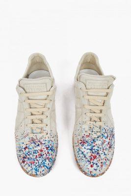 Maison Margiela Off-White Paint-Splatter Pollock Sneakers