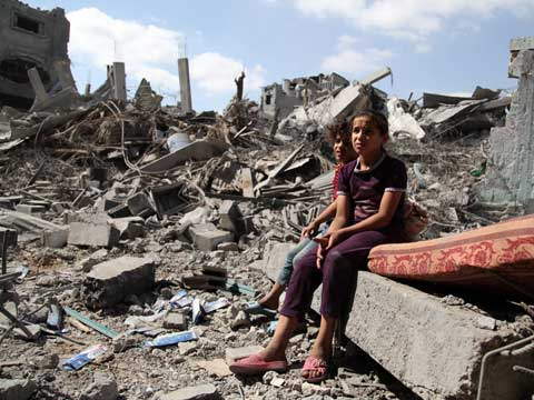 Children in Gaza during ceasefire