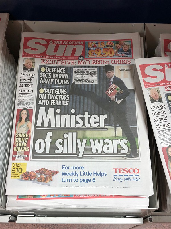 The Scottish Sun newspaper's front page