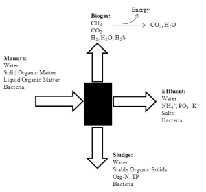 "Figure 1. Anaerobic Digestion of Manure as a ""Black Box"""