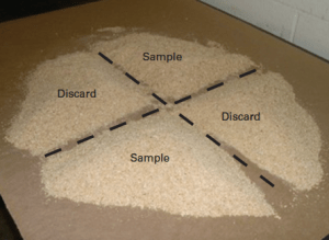 Figure 4. Quartering a sample.