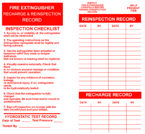 Fire Extinguisher Forms