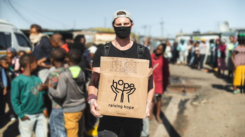 'Ginger with a GoPRO', crowdfunds over R600 000 to feed hungry communities during lockdown.