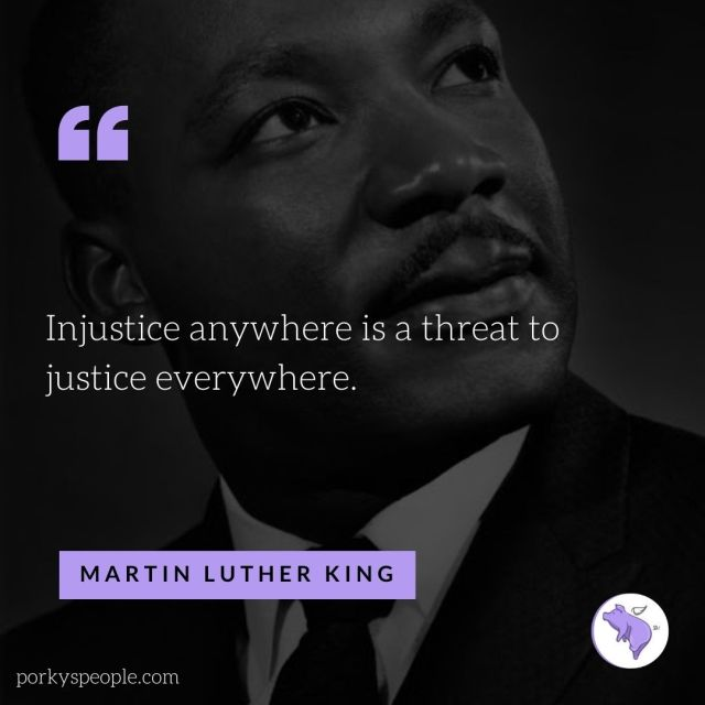 An Inspirational quote from Martin Luther king about justice and civil rights.