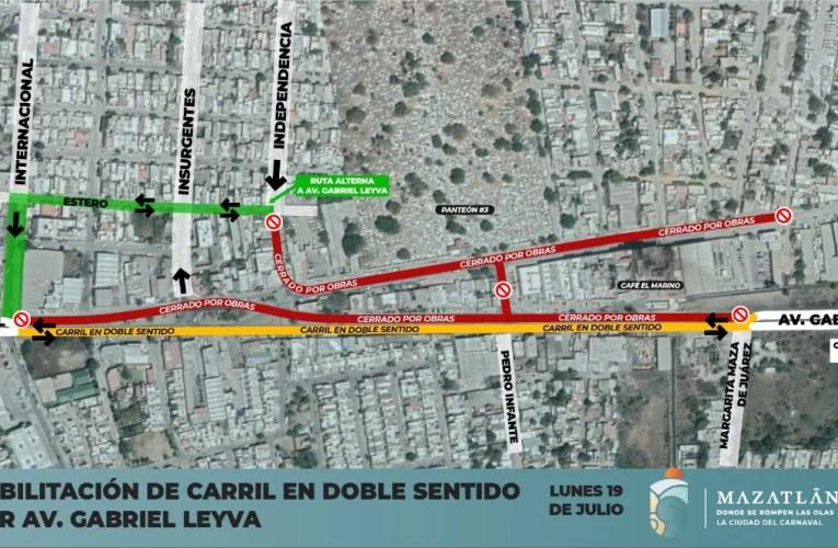 A partir de lunes será en doble sentido el flujo vial de Gabriel Leyva del Café Marino a Avenida Alejandro Ríos