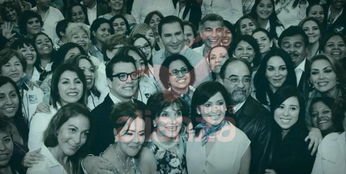 Rafael Moreno Valle y Antonio Gali Fayad, acudieron a la asamblea nacional de mujeres del Partido Nueva Alianza