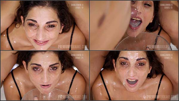 [PremiumBukkake] Jimena Lago 1 Bukkake Bonus – 32 Cum Loads to the Face and Swallowing it [1080p]