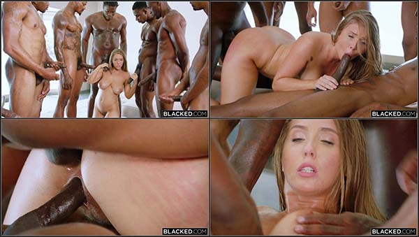 [Blacked] Lena Paul - Anything For Daddy - Lena takes on 7 Guys [1080p HEVC x265]