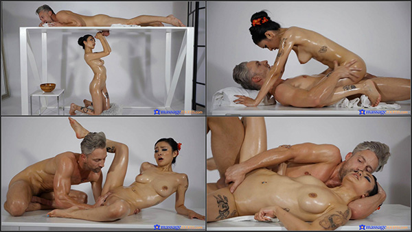 [MassageRooms] Rae Lil Black - Asian and big cock on milking table [1080p 25FPS]