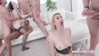 Nasty sluts are pee drinking  , prolapse, and loving balls deep anal – legal porno