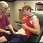 Blonde MILF Nurses a Teen Cock