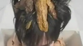 poo on the head of a woman