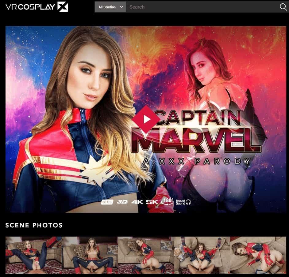 captain marvel parody movie cover on vrcosplayx