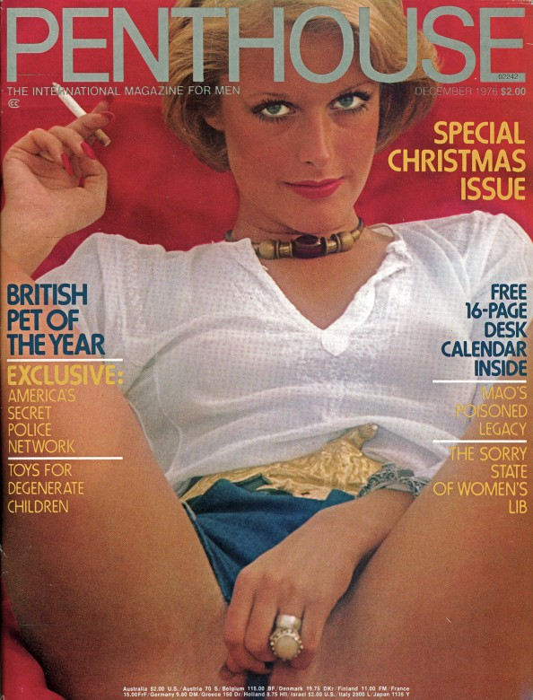 Adrian King on the cover of Penthouse magazine