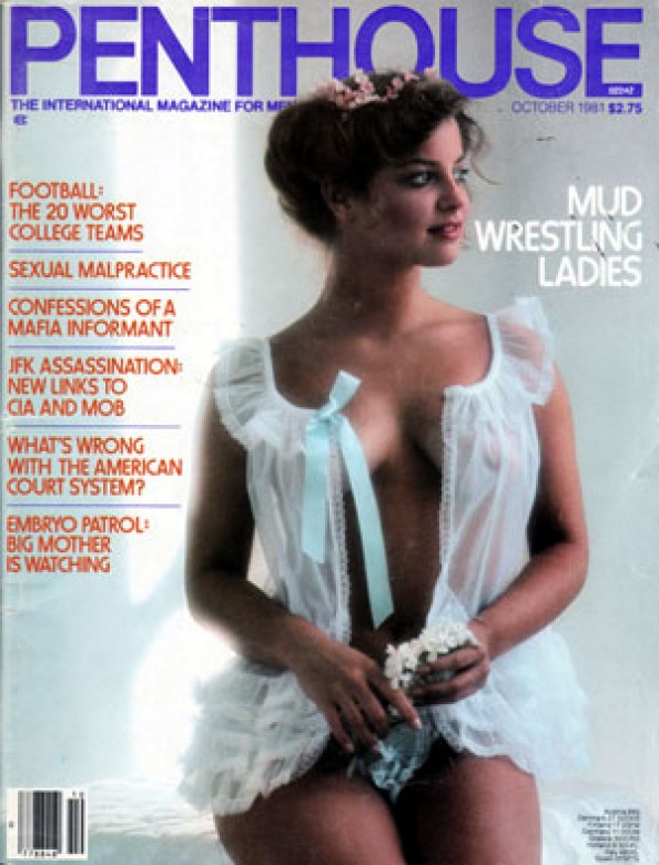 Connie Lynn Hadden on the cover of Penthouse Magazine
