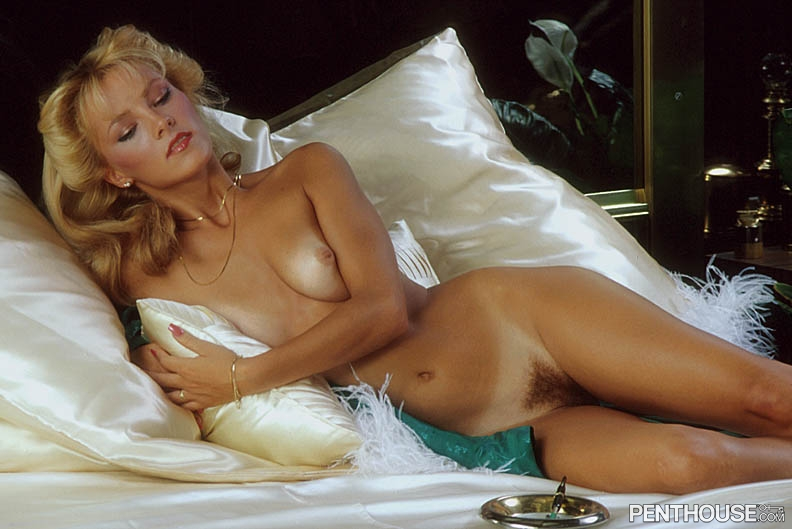 Connie Lynn Hadden posing nude for the October 1981 issue of Penthouse