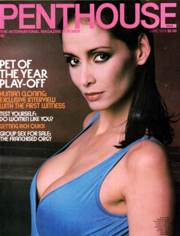 Corinne Alphen on the cover of Penthouse magazine June 1978