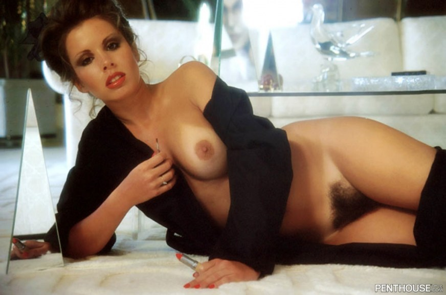 Corinne Alphen posing nude for the August 1981 issue of Penthouse