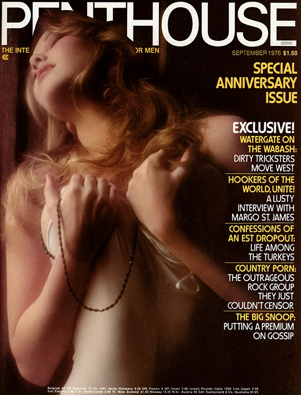 Dawn Shaw on the cover of Penthouse magazine