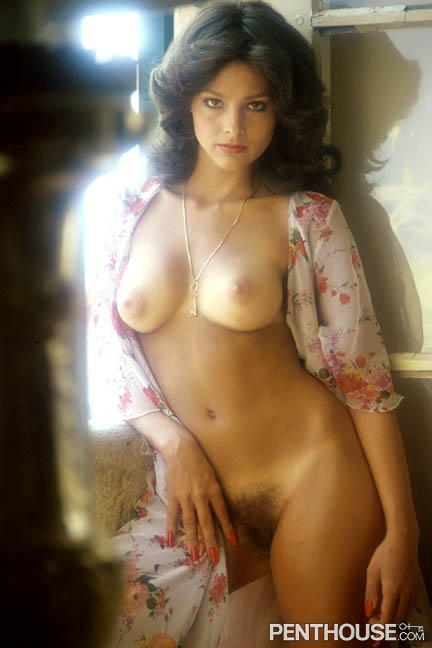 Debora Zullo posing nude for the November 1977 issue of Penthouse
