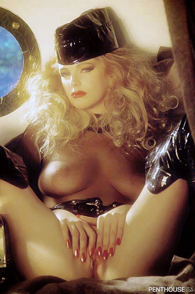 Diana Van Gils posing nude for the October 1989 issue of Penthouse