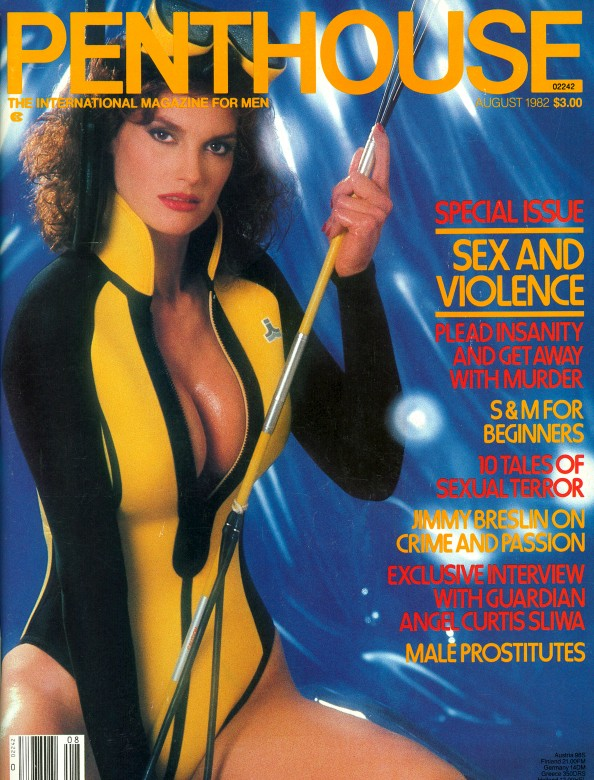 Donna Barnes on the cover of Penthouse Magazine
