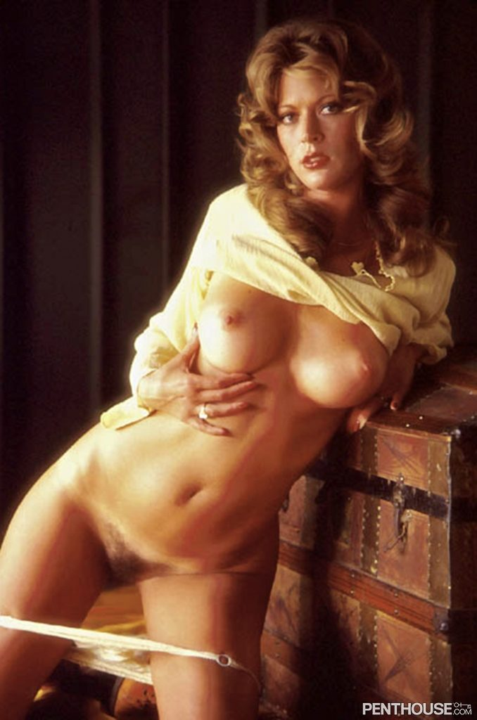 Dusty Jackson posing nude for the January 1979 issue of Penthouse