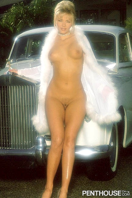 Emerald Heart posing nude for the January 1996 issue of Penthouse