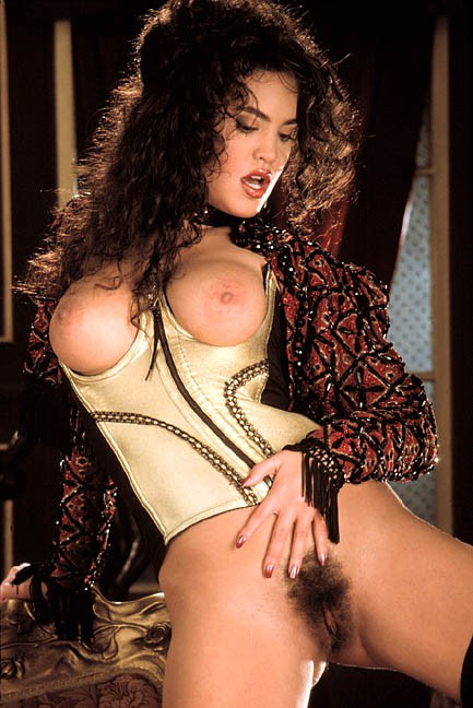 Jami Dion posing nude for the March 1992 issue of Penthouse