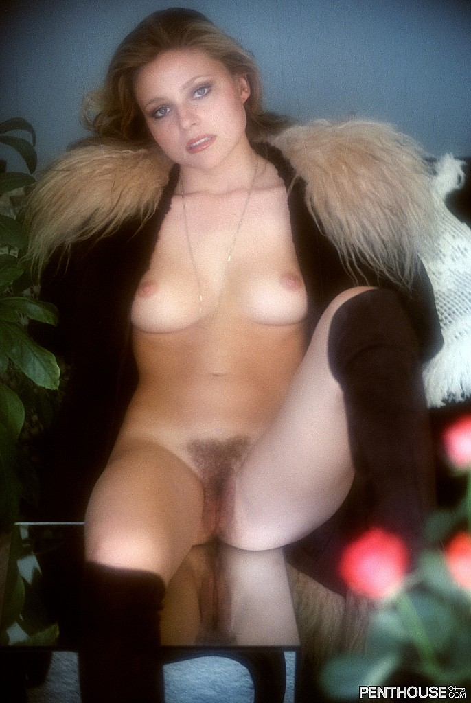 Joann Witty posing nude for the March 1976 issue of Penthouse