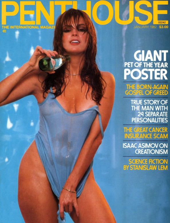 Julia Perrein on the cover of Penthouse Magazine