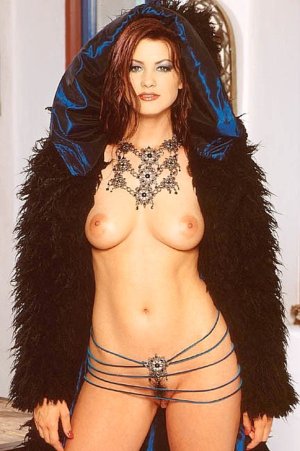 Juliet Cariaga posing nude for the December 1997 issue of Penthouse