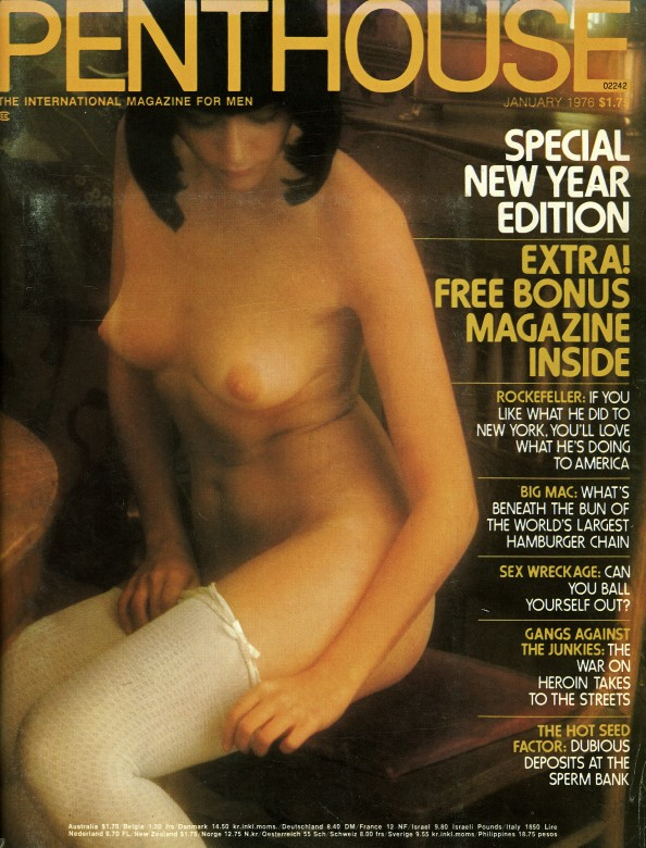 Laure Favie on the cover of Penthouse magazine